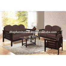Conjunto de sofá de madeira, conjunto de sofá com almofada
