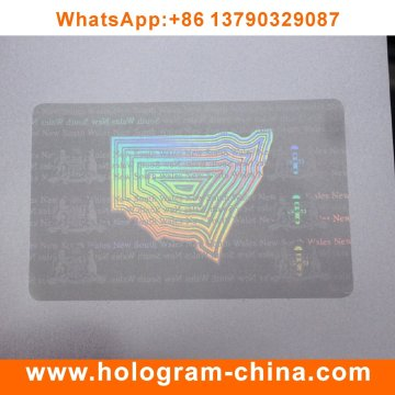 Security Custom Transparent Hologram Film ID