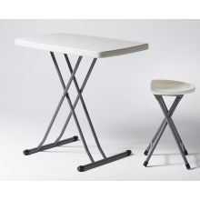 2ft 6in Rectangular Plastic Top Table With Fold Away Legs