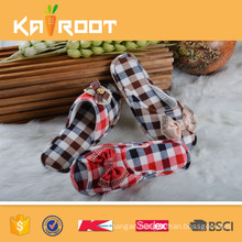 OEM service stripe company personalized slippers for women