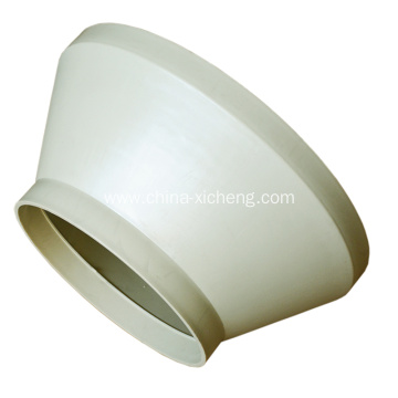 Polypropylene pipe reducer for vent pipelines