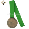 Custom zinc alloy bronze metal weightlifting sports medallion