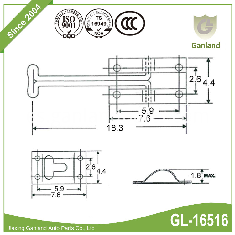spring loaded handle GL-16516