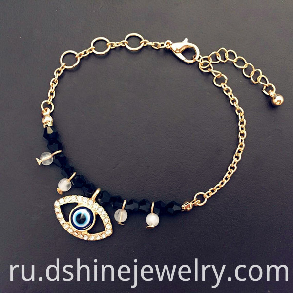 Chain Evil Eye Gold Bracelet