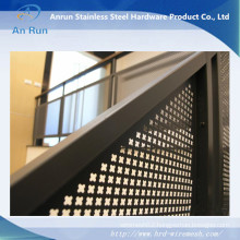 Perforated Steel Panel for Stair Protection, Custom!