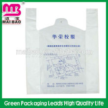 Disposable transparent hdpe/ldpe vest carrier bag t-shirt bag daily life use