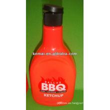 Champú plástico botella cosmética con la tapa de tirón