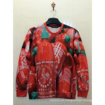 Camisa vermelha do impressão do entusiasmo do morango