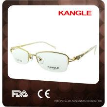 Trendy Metall Optischen Rahmen mit Acetat Tipps für Männer