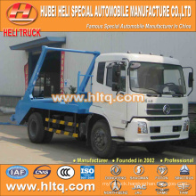 DONGFENG hydraulic lifter garbage truck skip loader garbage truck trash truck 4x2 10cbm 190hp quality assurance best price