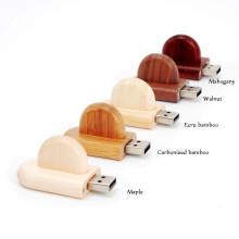 Disco instantâneo de madeira amigável de USB da movimentação do flash de USB 4GB ambiental