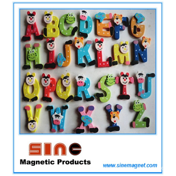 26 Alphabet Wooden Cartoon Fridge Magnet/Education Cute Toys