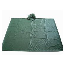Mens verde Poncho in Pvc