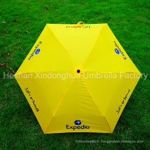 Parapluies minces promotionnels de pli trois avec le logo adapté aux besoins du client (FU-3621N)