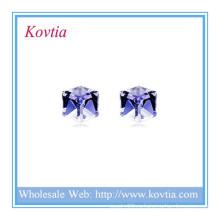 ГОРЯЧИЙ СБЫВАТЕЛЬ малый шестигранный кристалл стерлингового серебра 925 серьги серьги
