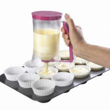 Cup Cake Batter Dispenser with Measuring Label