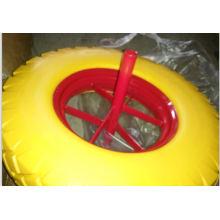 Rueda libre plana de la PU con alta calidad para el uso de la carretilla de rueda