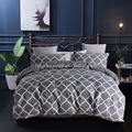 UK king size printed comforter duvet cover set