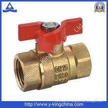 Válvula de chuveiro de bronze forjada com alça de liga de zinco (YD-1009)