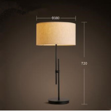 Adjustable LED Table Lamp with Cloth Shade