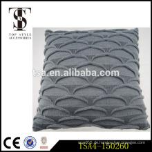Fisch Skala grau Großhandel dekorative Kissen Kissen Stricken Garn Abdeckungen für Kissen