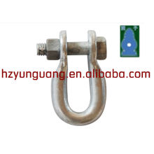 electric power fitting pole line hardware accessories connect cable rigging European type screw U shaped shackle