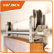 With 9 years experience factory directly top mounted barn door sliding hardware
