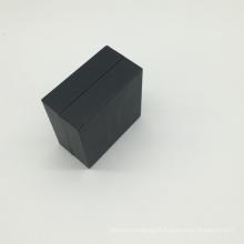 Ambos lado impresso caixa de correio de papelão preto fosco