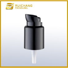 Plastic cosmetic lotion pump with small overcap