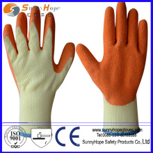 natural rubber palm coated cotton glove