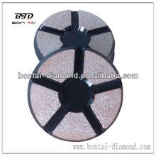 Tampon de polissage de 3 '' 80mm en cuivre pour béton ou pierres
