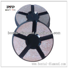 3'' 80mm copper bond polishing pad for concrete or stones