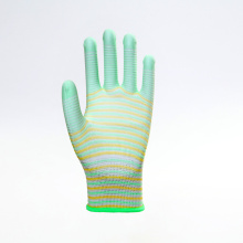 Polyester Smooth Finish PU Coated Labor Gloves