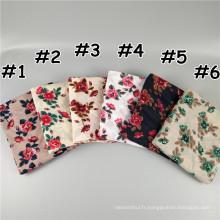 Nouveau style chaud et doux écharpe hijab pakistanais imprimé jersey matériel écharpe musulmane hijab