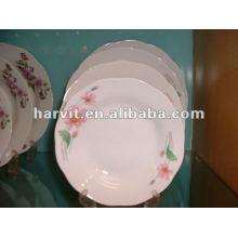 2015 Placa de sopa caliente de la porcelana de la venta / placa de cerámica con la etiqueta de la flor