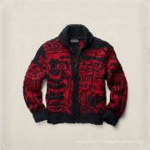 15PKSW41 chandail de laine tricoté épais hiver fait à la main