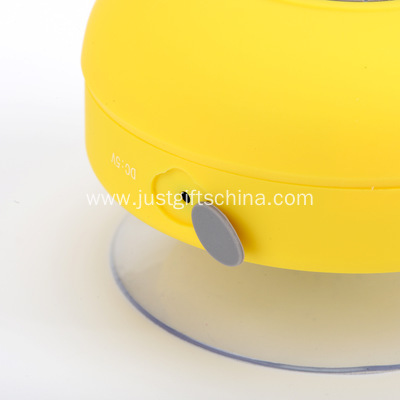 Promotional Waterproof Bluetooth Speaker With Suction Holder