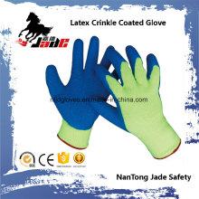 10g Algodón Palm Latex Crinkle acabado guante recubierto