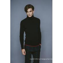 100% Caxemira Queda e Inverno blusa de gola em tricô Homens Knitwear