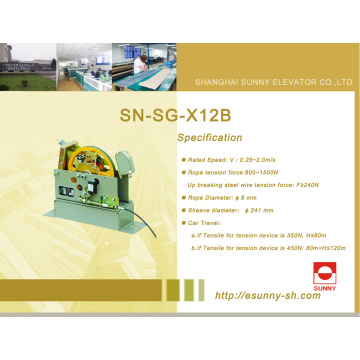 Gobernador de velocidad excesiva de ascensor (SN-SG-X12B)