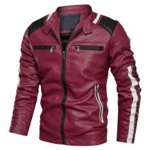 Мужская байкерская куртка из искусственной кожи высокого качества на заказ