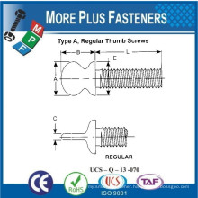 Made In Taiwan Type A Regular Thumb Screw Type A Regular Wing Screw Type B Regular Thumb Screw