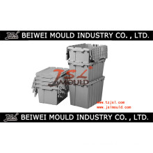 Plastic Tote Boxes with Hinged Lids Mould Manufacturer