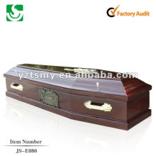 satin inside solid wood coffin JS-E080