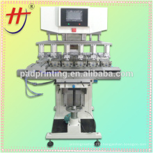 cheaper ink cup 6 color safe helmet pad printing machine with independent pads HJ-300FY