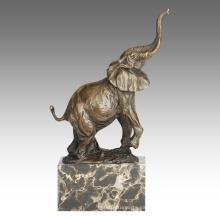 Animal Estatua Elefante Decoración Bronce Escultura Tpal-273