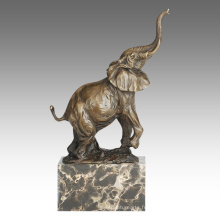 Animal Statue Elephant Décoration Bronze Sculpture Tpal-273