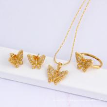 Рождественский подарок Мода Ювелирные изделия 18k позолоченный набор ювелирных изделий из бабочки (60823)