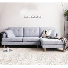 Simples e moderna sala de estar com sofá de canto