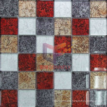 Gold Leaf Crystal Mosaic Glass Mosaic Tile (GF251)